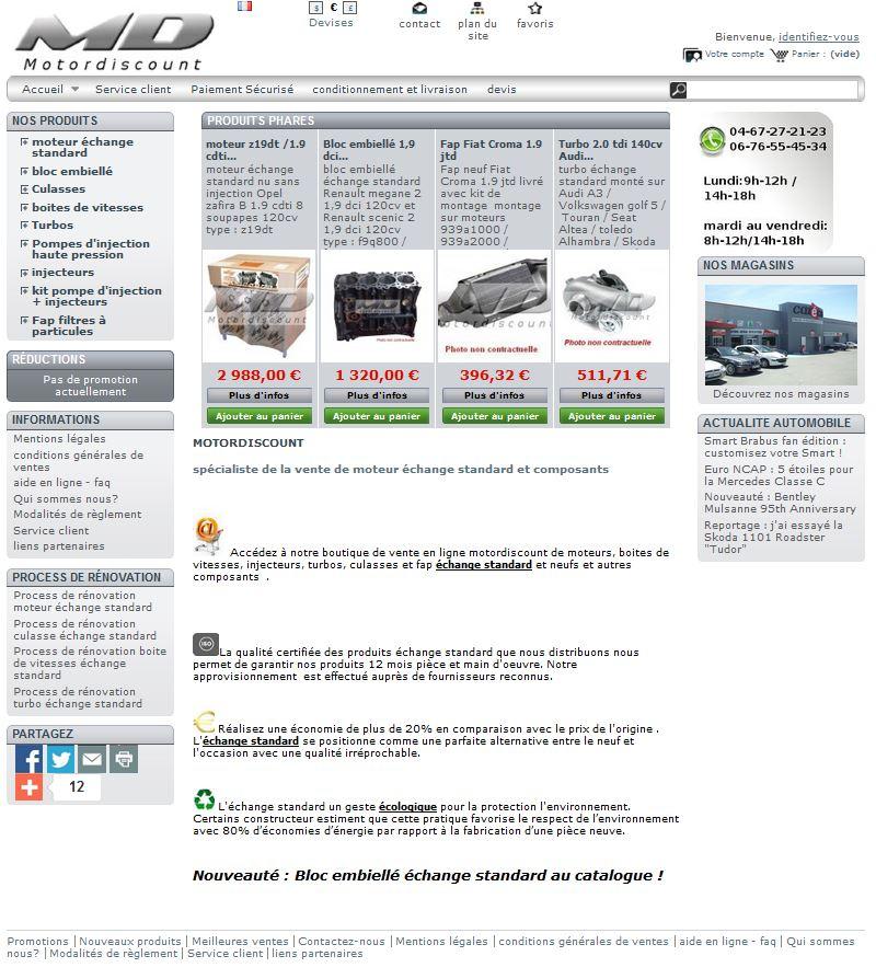 Pi ces auto vente en ligne prix ultras comp titifs piec 39 auto 34 le sp - Vente discount en ligne ...